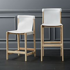 Bar Stool Chair Grey Pello Ikea Modern Stools And Counter Cb2 Burano White Leather Sling
