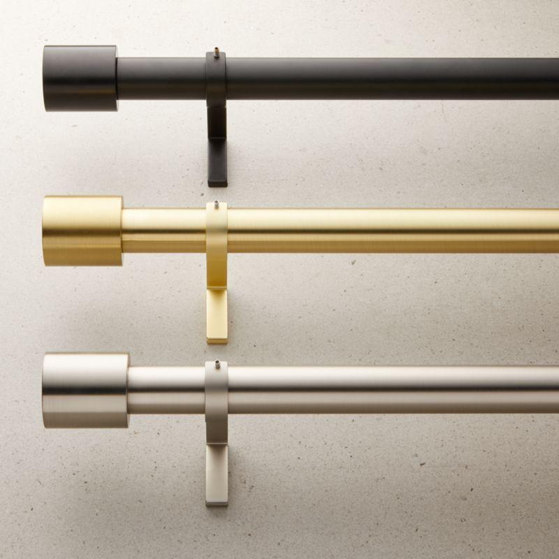cap finial curtain rod set 1 25 diameter cb2