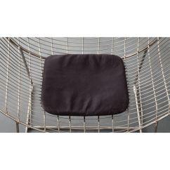 Leather Chair Cushions Toddler Soft Black Cushion Reviews Cb2 Chaircushionblkleathershs17 1x1