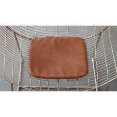 Leather Chair Pads Modern Orange Dining Brown Cushion Reviews Cb2 Chaircushionbrownleathershs17 1x1