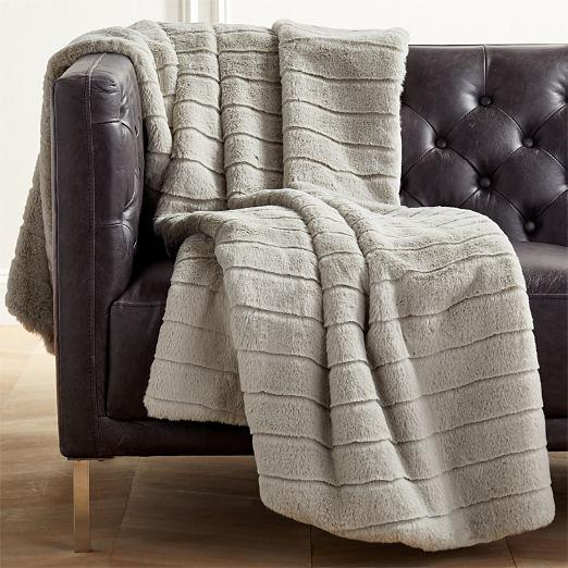 decorative throw blankets cb2