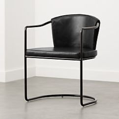 Modern Metal Chairs Chair Covers Sofa Accent And Armchairs Cb2 Cleo Black Cantilever