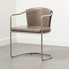 Metal Armchair How To Make Dining Room Chairs Modern Accent And Armchairs Cb2 Cleo Grey Cantilever Chair