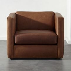 Leather Chair Modern Sogno Massage Price Club Chairs Cb2