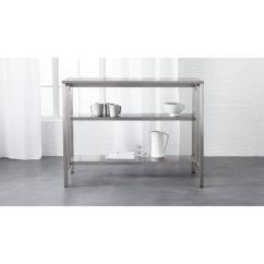 Kitchen Cart Table Yellow Rug Coterie Stainless Steel Reviews Cb2 Coteriekitchencartshavf16 1x1