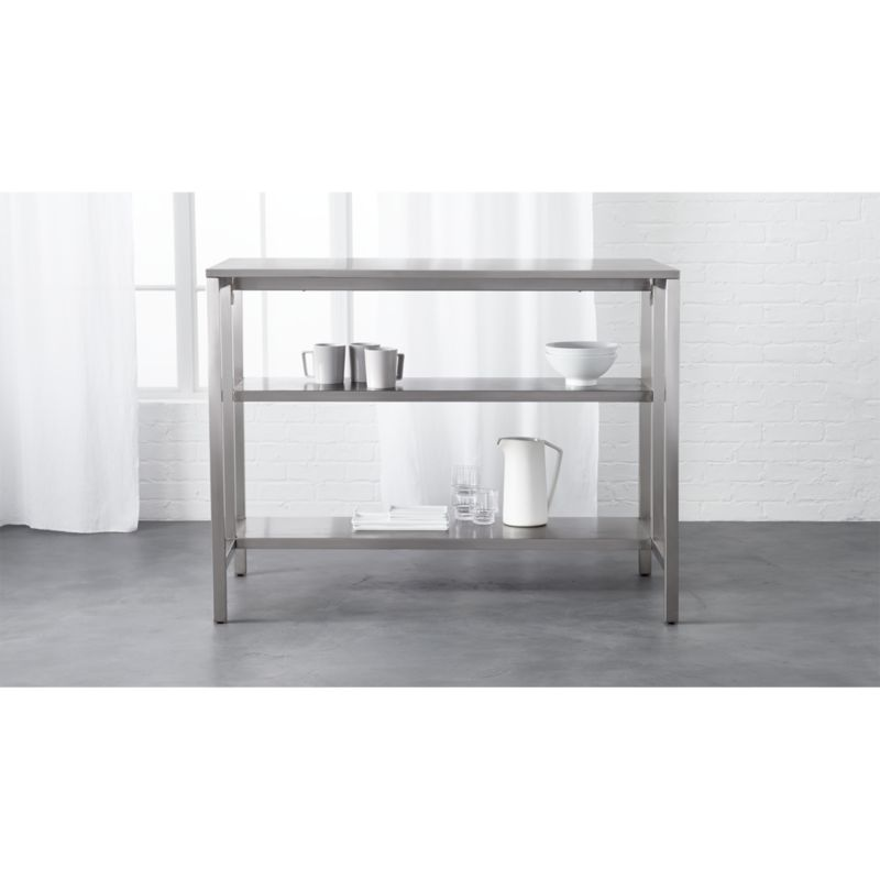 kitchen cart table contemporary light fixtures coterie stainless steel reviews cb2 coteriekitchencartshavf16 1x1