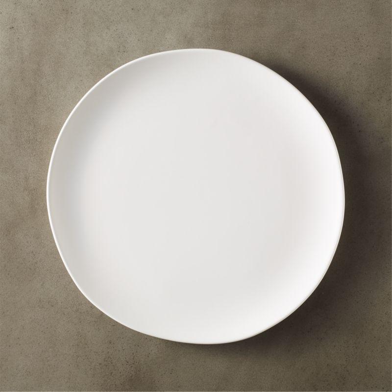 Crisp White Ceramic Dinner Plate Reviews Cb2