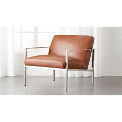 Lounge Chair Leather Unique Office Designs Cue Brown Reviews Cb2 Cuechairbrnlthrbrshfrmshs18 1x1