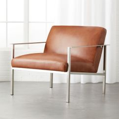 Steel Lounge Chair Office Quikr Delhi Chairs Cb2 Cue Brown Leather