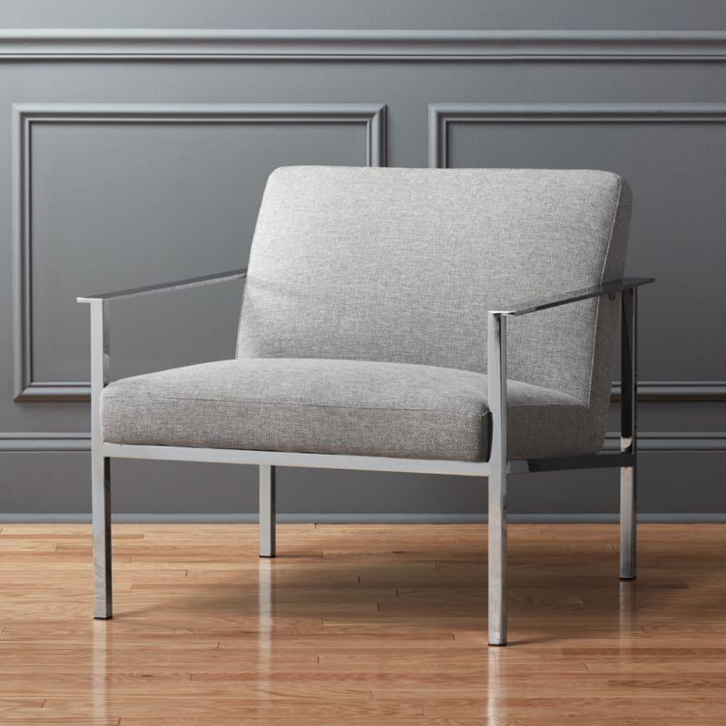 steel lounge chair portfolio and ottoman chairs cb2 cue grey