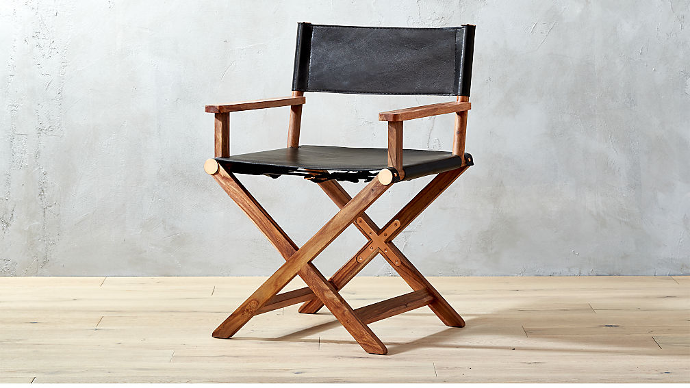 leather directors chair hanging for room curator black director s reviews cb2