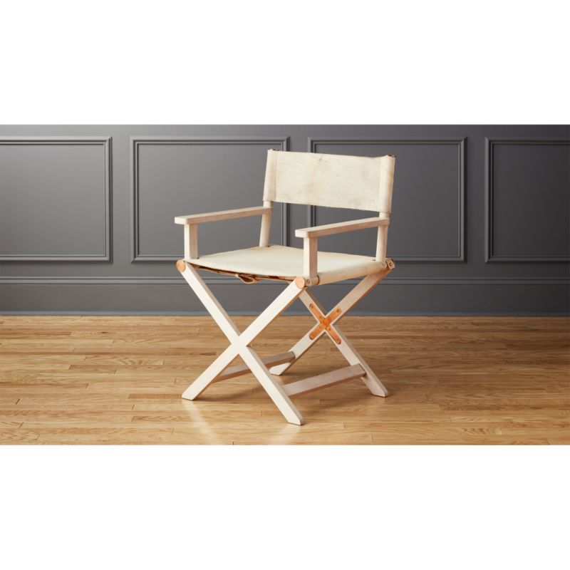 directors chair white leather tufted curator reviews cb2
