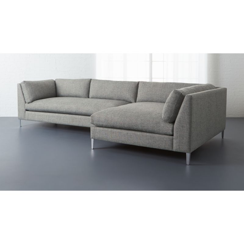 crate and barrel lounge sofa pilling how to fix torn cushion decker grey 2 piece sectional reviews cb2 deckerlasfrachssltpepf15