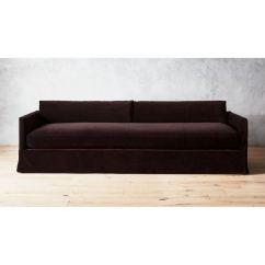 Slipcovers For Sofa Beds Bed Black Delphine Mocha Velvet Slipcover Reviews Cb2 Delphineslpcvrsofavelmochashs18 1x1