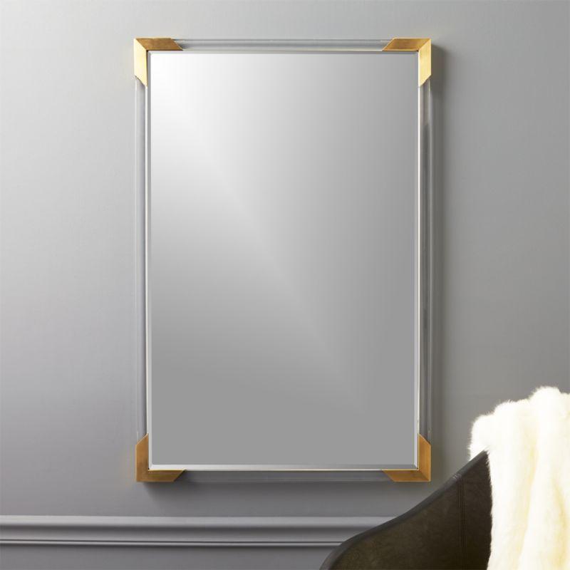 Demi Rectangle Acrylic Mirror 36  Reviews  CB2