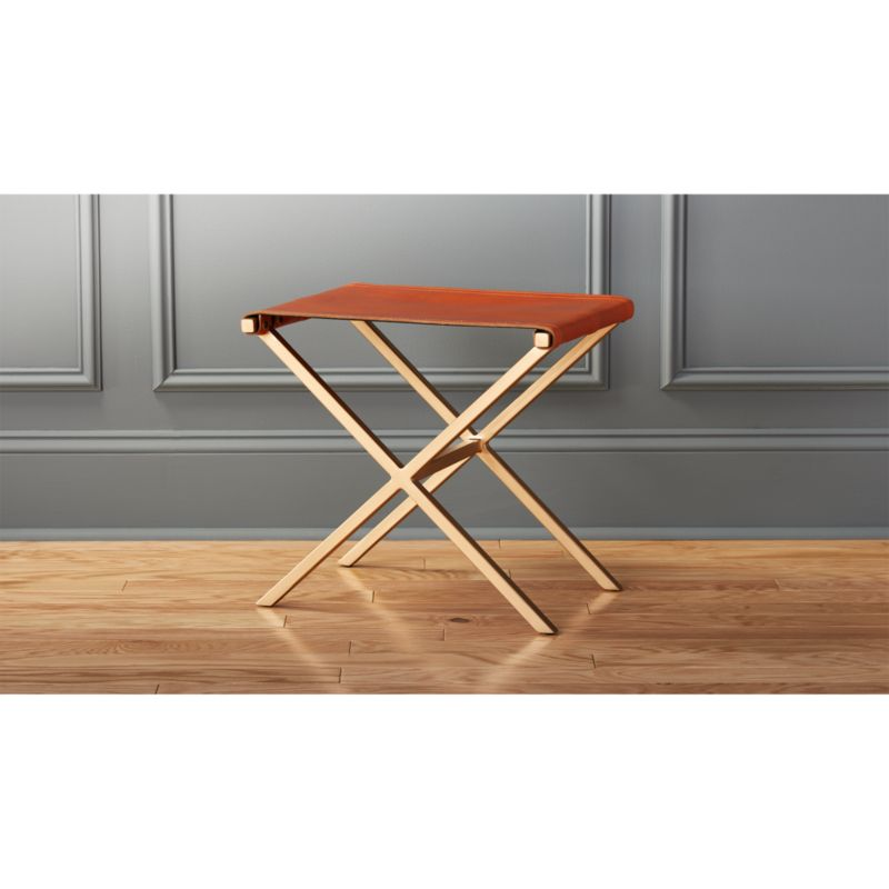 leather directors chair fishing lawn director s stool reviews cb2