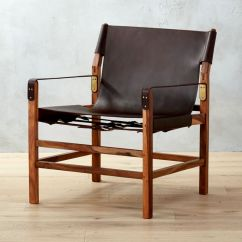 Wood And Leather Chair Best Back Support For Expat Ii Safari Reviews Cb2