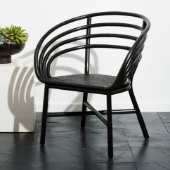Black Side Chair Student Pockets Cb2 Market Task Office