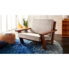 Wooden Lounge Chair Skirted Wingback Studio Sold Out Reviews Cb2 Fsstudioloungeroatshf17 1x1