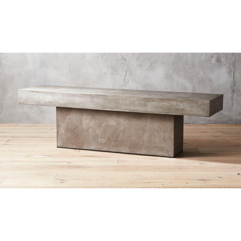 Fuze Large Stone Bench Reviews Cb2