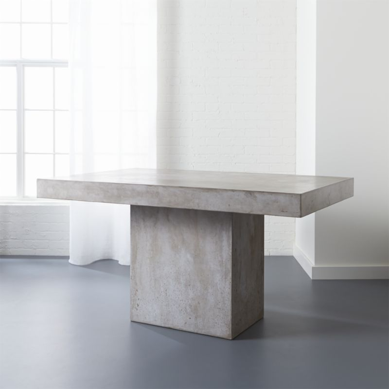 Fuze Grey Concrete Dining Table  Reviews  CB2
