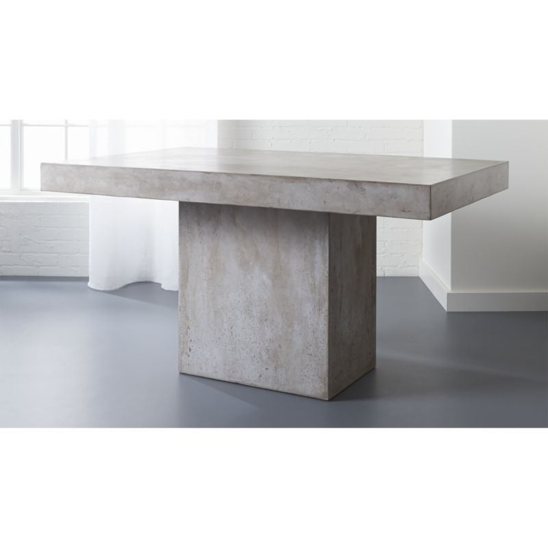 concrete kitchen table stone countertops fuze grey dining reviews cb2