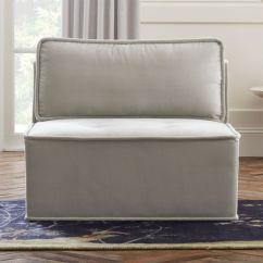Light Grey Chair Black Director Covers Leather Chairs Cb2 Quattro Sharkskin Velvet Tufted Armless