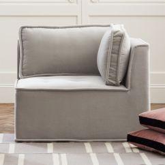 Light Grey Chair Joss And Main Chairs Leather Cb2 Quattro Sharkskin Velvet Tufted Corner