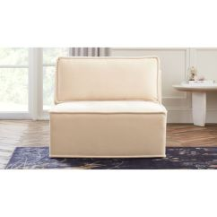Velvet Tufted Chair Ashley And A Half Recliner Quattro Snow Armless Reviews Cb2