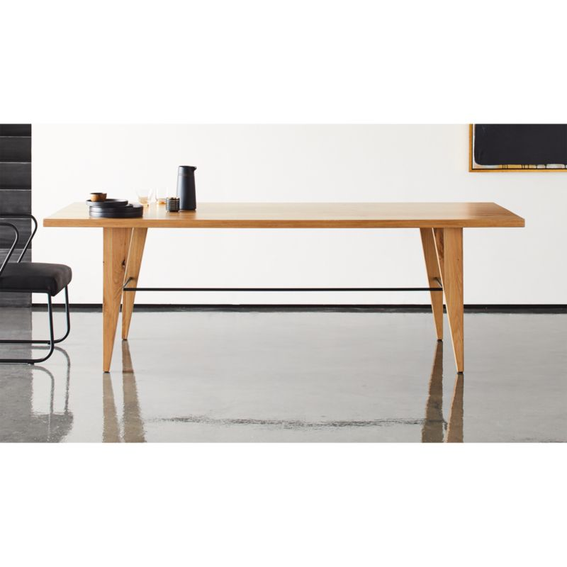 montenegro rectangular oak dining