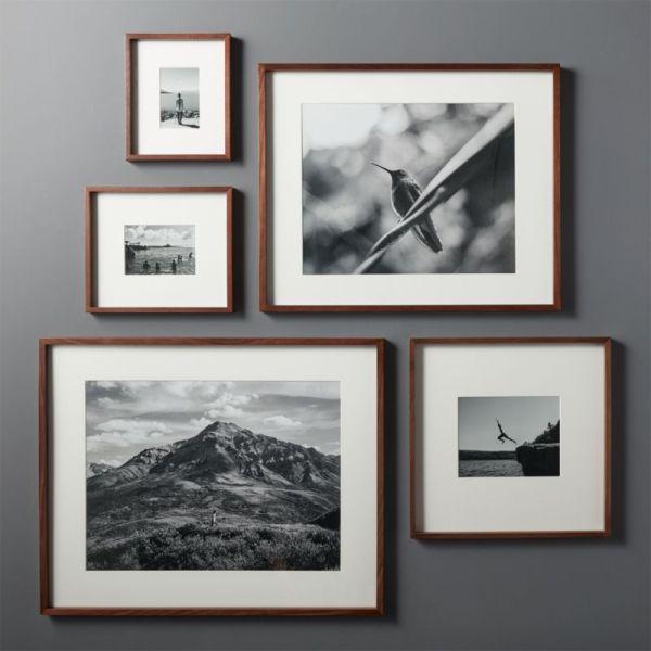 Walnut Frames With White Mats Cb2