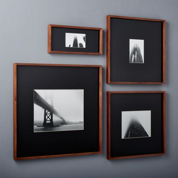 Walnut Frames With Black Mats Cb2