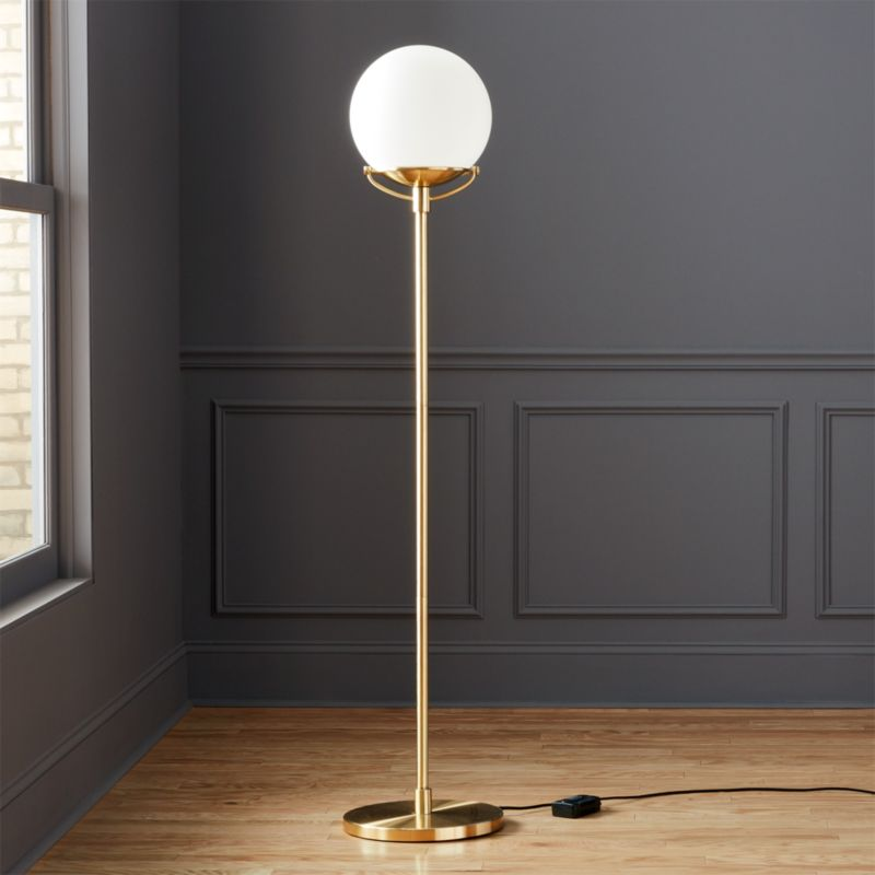 Globe Brass Floor Lamp  Reviews  CB2