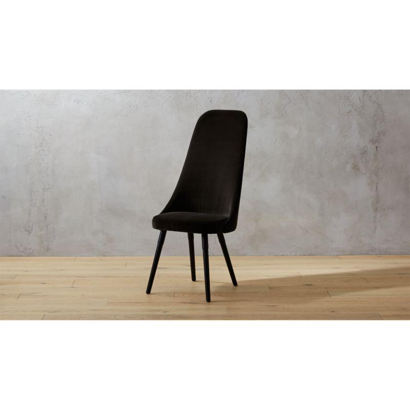 black velvet chair outdoor fabric mesh harlow mink reviews cb2 harlowchairminkvelvetshf17 1x1
