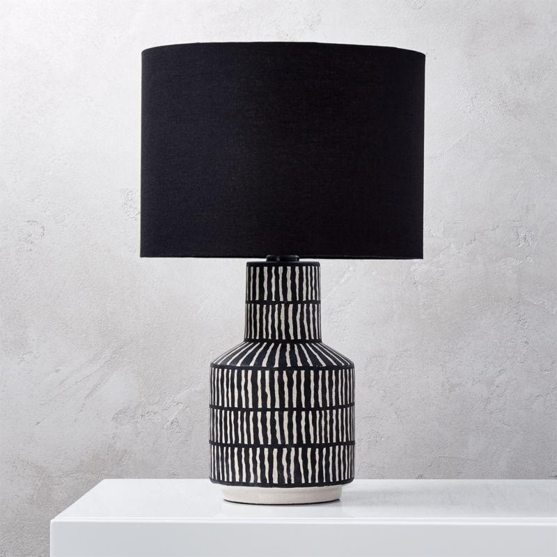 modern black table lamps