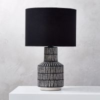 Hatch Black and White Table Lamp + Reviews | CB2