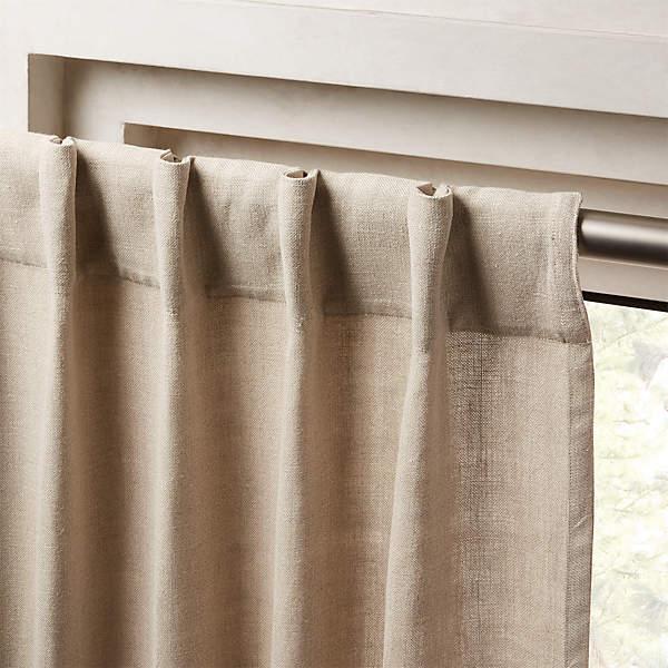 heavyweight natural linen curtain panel 48 x120