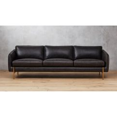 Black Leather Sofa Rock Hoxton Reviews Cb2