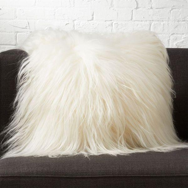 "16"" Icelandic Sheepskin Pillow Cb2"