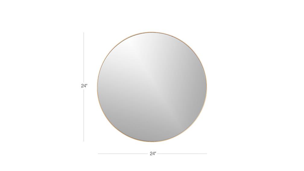 "Infinity 24"" Round Brass Wall Mirror + Reviews"