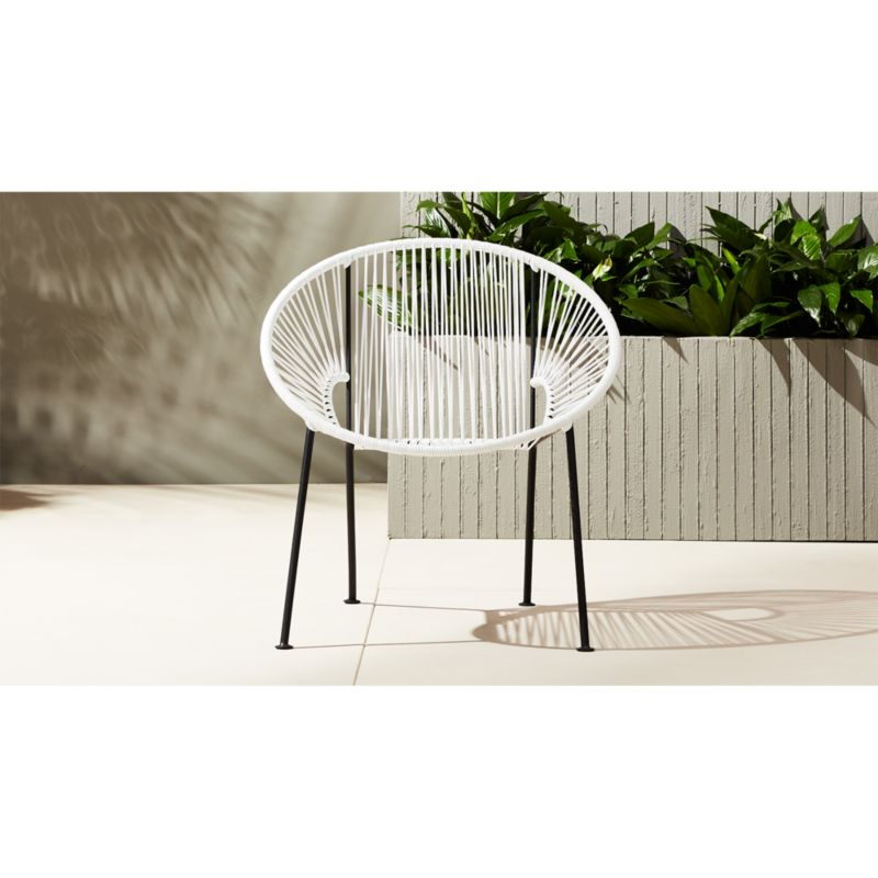 pvc lounge chair ikea tempe covers ixtapa white reviews cb2 ixtapaloungechairwhiteshs17 1x1