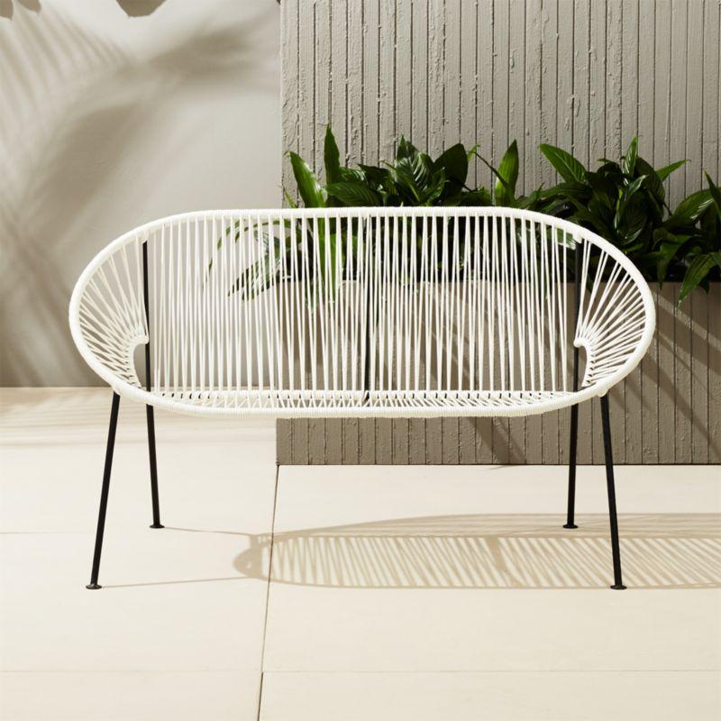 patio string chair walmart potty chairs ixtapa outdodor loveseat bench reviews cb2