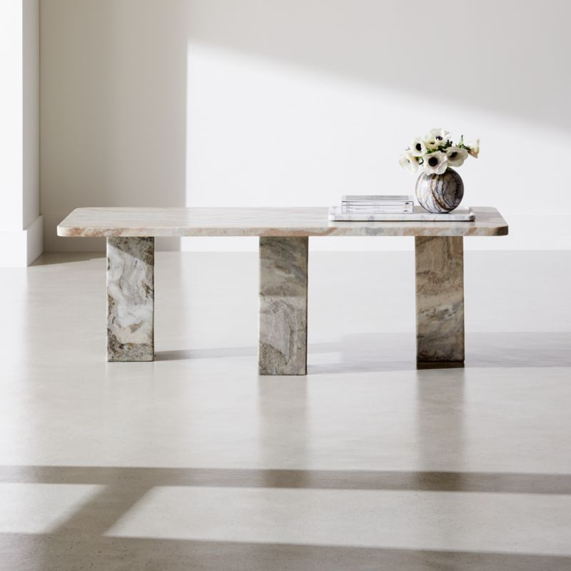 statement marble coffee table reviews cb2