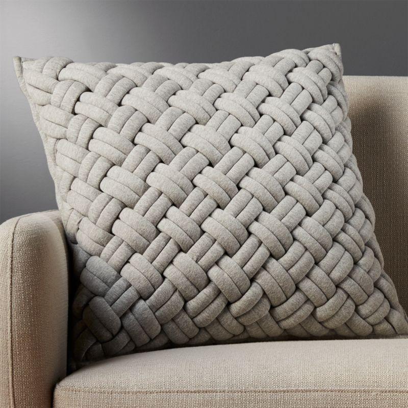 20 jersey interknit grey pillow cb2