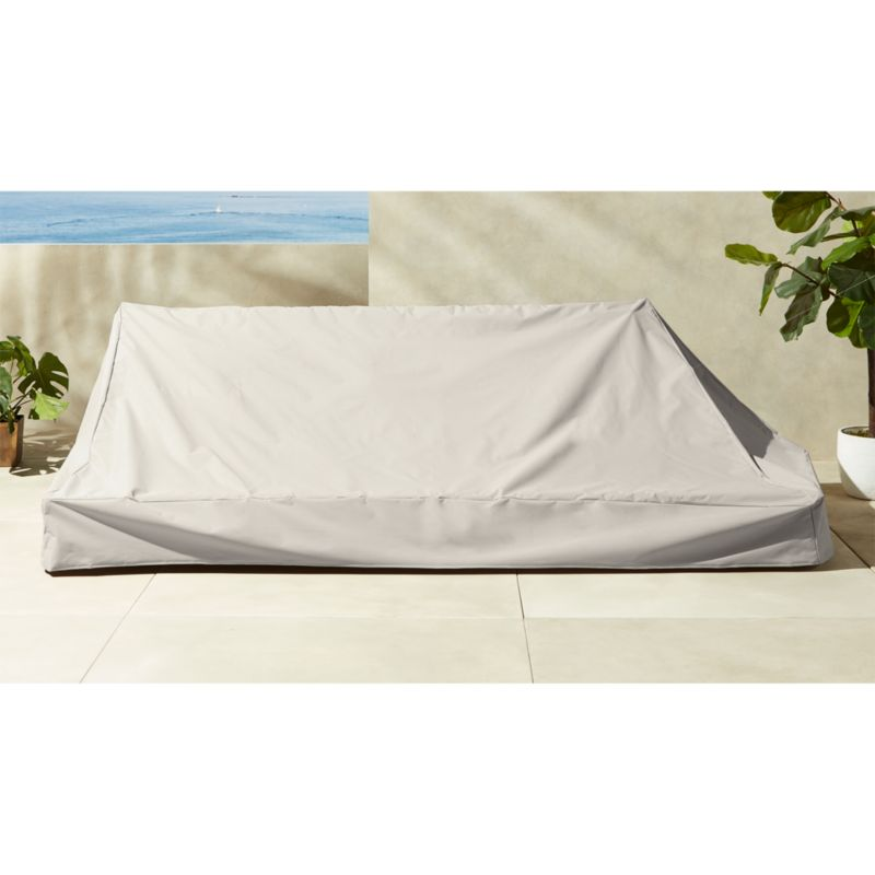 sofa waterproof cover cotton duck one piece with scotchgard slipcover burton canyon reviews cb2