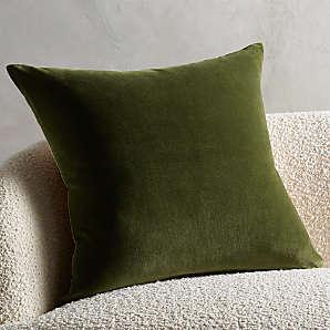 velvet pillows cb2