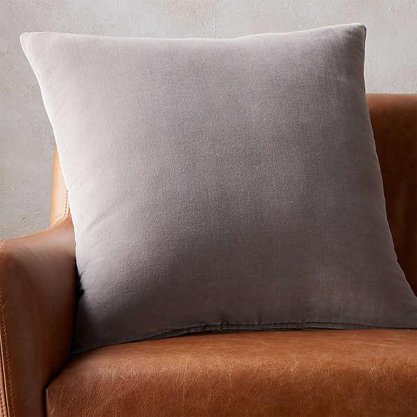 grey pillows cb2