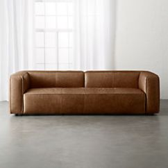 Leather Sofa Furniture Stores Nyc Loveseat Chair Set Modern Sofas Couches And Loveseats Cb2 Lenyx Cognac Extra Large