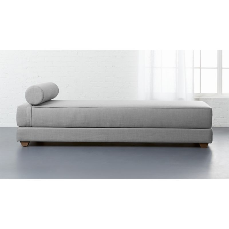 queen size sleeper sofa mattress dimensions karlstad cover green lubi silver grey daybed + reviews | cb2