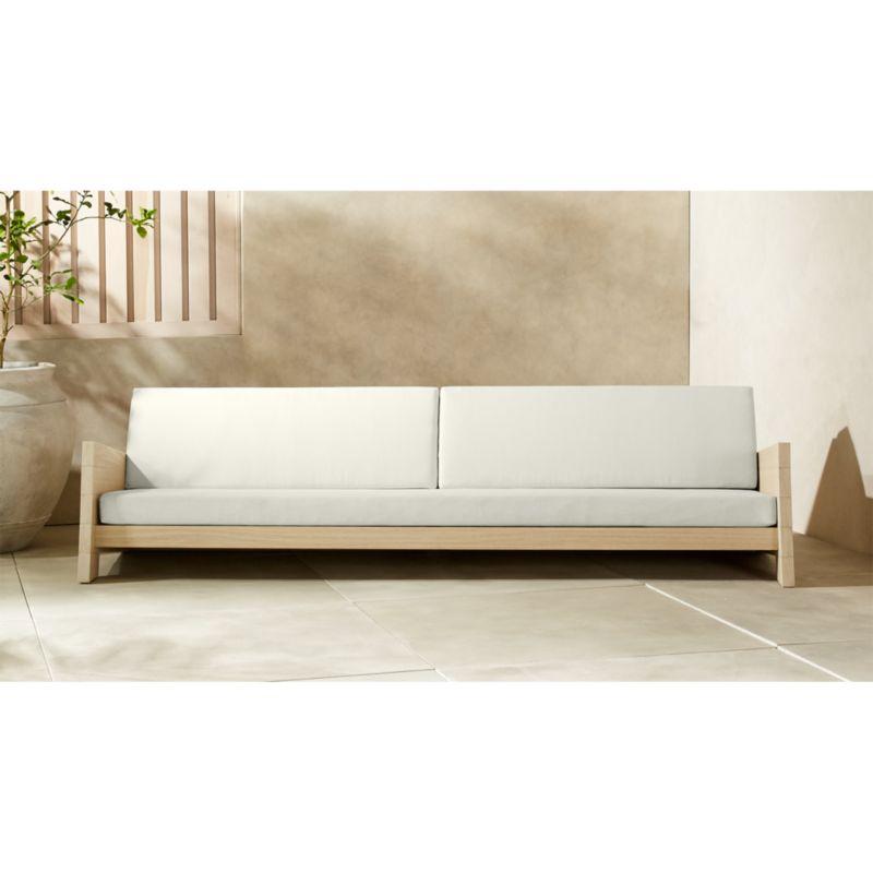 Lunes White Outdoor Sofa Reviews Cb2